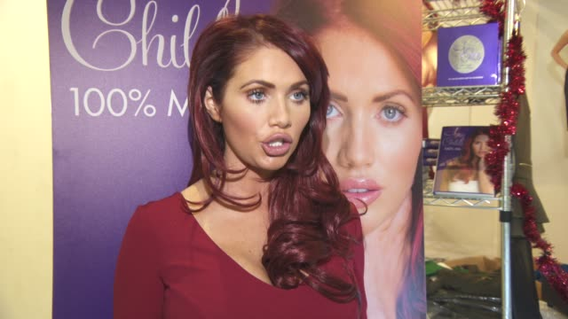 INTERVIEW Amy Childs on who she will be kissing under the mistletoe Her life as a business woman and her inspirations at The Ideal Home Show at...
