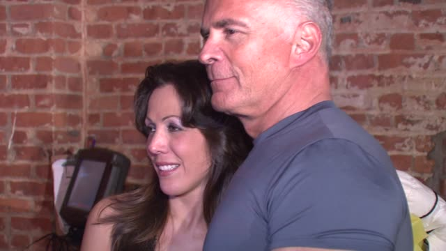 amy fisher and lou bellara at the amy fisher and lou bellara host press conference for 'amy fisher caught on tape' at retox in new york new york on... - amy fisher caught on tape stock videos and b-roll footage