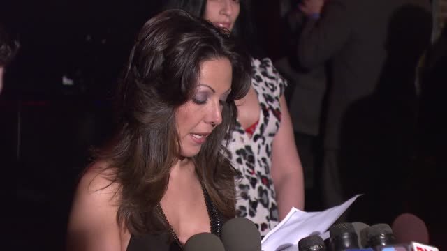 amy fisher on being embarrassed by the sex tape and her reason for hosting a video release sex tape party at the amy fisher and lou bellara host... - amy fisher caught on tape stock videos and b-roll footage