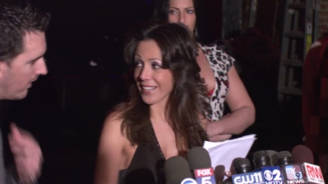 amy fisher on being thankful for having the opportunity to dj and an introduction to her sex tape at the amy fisher and lou bellara host press... - amy fisher caught on tape stock videos and b-roll footage