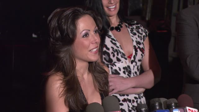amy fisher on her public images and not caring what people think about her anymore at the amy fisher and lou bellara host press conference for 'amy... - amy fisher caught on tape stock videos and b-roll footage