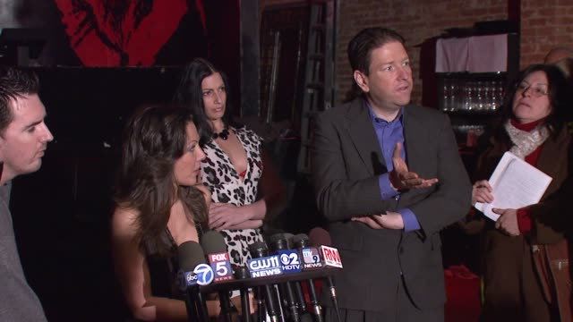 amy fisher on not showing the tape during the party and being hired to dj for the event at the amy fisher and lou bellara host press conference for... - amy fisher caught on tape stock videos and b-roll footage