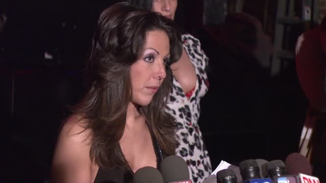 amy fisher on the media putting false information about her writing a newspaper column writing a book and her response to the sex tape being... - amy fisher caught on tape stock videos and b-roll footage