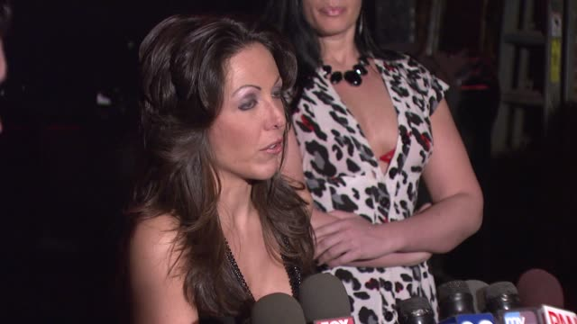 amy fisher on the settlement of the sex tape and her reason for giving an explanation to the media at the amy fisher and lou bellara host press... - amy fisher caught on tape stock videos and b-roll footage