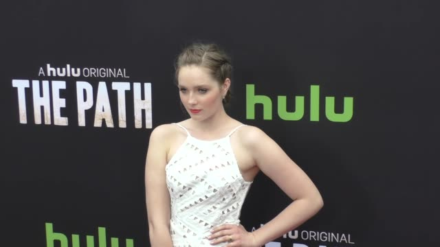 Amy Forsyth at the Premiere Of Hulu's The Path at Arclight Theatre in Hollywood Celebrity Sightings on March 21 2016 in Los Angeles California