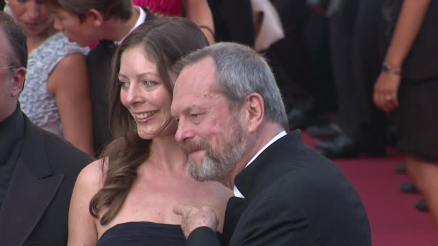 stockvideo's en b-roll-footage met amy gilliam and terry gilliam at the cannes film festival 2009 closing steps coco chanel igor stravinsky at cannes - terry gilliam