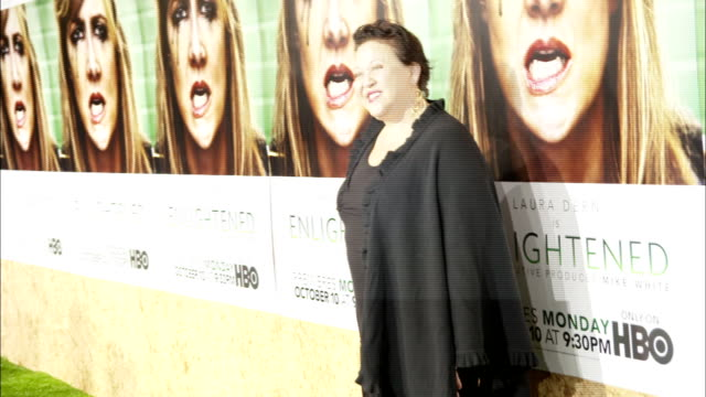 Amy Hill posing for paparazzi along the red carpet at Paramount Studios