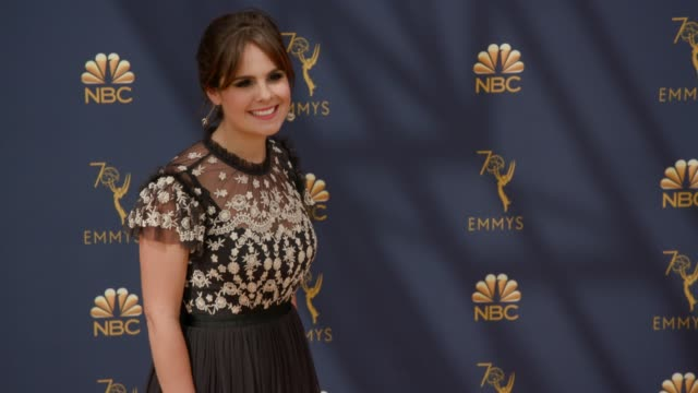 amy hoggart at the 70th emmy awards arrivals at microsoft theater on september 17 2018 in los angeles california - 70th annual primetime emmy awards stock videos and b-roll footage