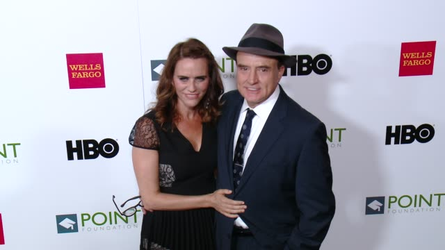 amy landecker and bradley whitford at the point foundation's voices on point gala at the hyatt regency century plaza on october 03, 2015 in century... - bradley whitford stock videos & royalty-free footage