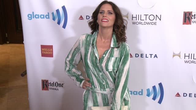 amy landecker at the 25th annual glaad media awards at the beverly hilton hotel on april 12 2014 in beverly hills california - ビバリーヒルトンホテル点の映像素材/bロール