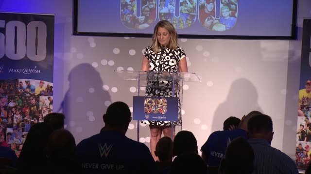 speech amy lange director of special events at dave busters discusses john cena's humanitarian work and being involved with the makeawish foundation... - cena stock videos & royalty-free footage