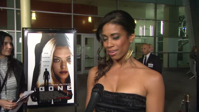 amy lawhorn on her character in the film, on working with the other actors, on the film at gone premiere on 2/21/12 in los angeles, ca - other stock videos & royalty-free footage