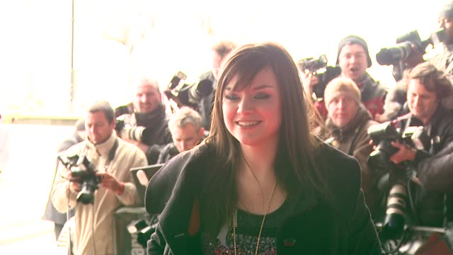 amy macdonald at the capital awards at the riverbank park plaza hotel in london on march 20, 2008. - amy macdonald stock videos & royalty-free footage
