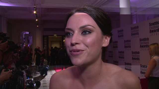 amy macdonald on the awards, her dress and the independence vote at the scottish fashion awards 2014 on 1st september 2014 in london, england. - amy macdonald stock videos & royalty-free footage