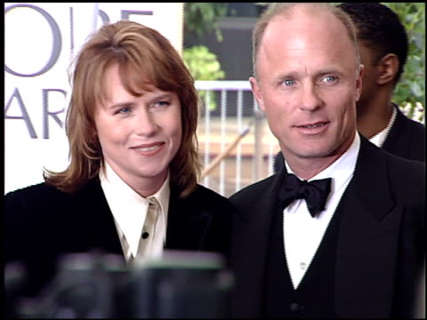 amy madigan at the 1996 golden globe awards at the beverly hilton in beverly hills, california on january 21, 1996. - amy madigan stock videos & royalty-free footage