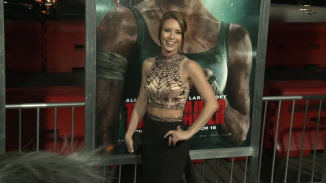 Amy Pemberton at the 'Tomb Raider' Premiere at TCL Chinese Theatre on March 12 2018 in Hollywood California