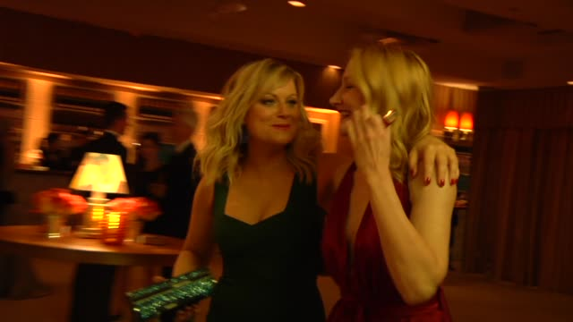 amy poehler and patricia clarkson at the 2013 vanity fair oscar party hosted by graydon carter inside party footage amy poehler and patricia clarkson... - amy carter stock videos & royalty-free footage