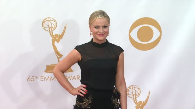 amy poehler at 65th annual primetime emmy awards arrivals on 9/22/2013 in los angeles ca - annual primetime emmy awards stock-videos und b-roll-filmmaterial