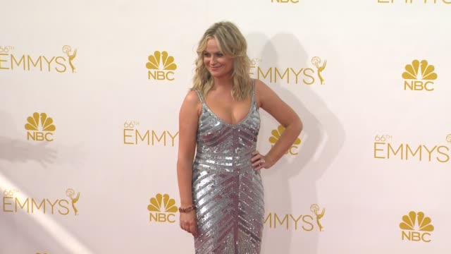 amy poehler at 66th primetime emmy awards - arrivals in los angeles, ca 8/25/14 - エイミー・ポーラー点の映像素材/bロール
