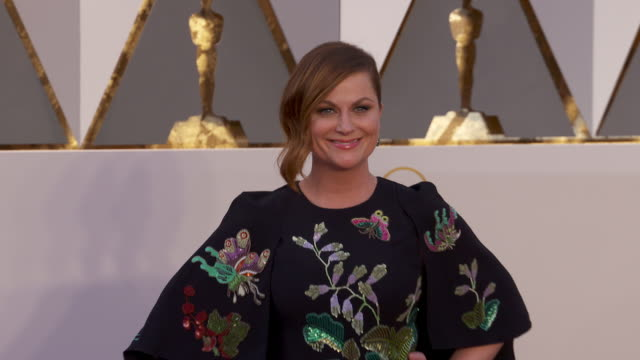 amy poehler at 88th annual academy awards - arrivals at hollywood & highland center on february 28, 2016 in hollywood, california. 4k available -... - エイミー・ポーラー点の映像素材/bロール