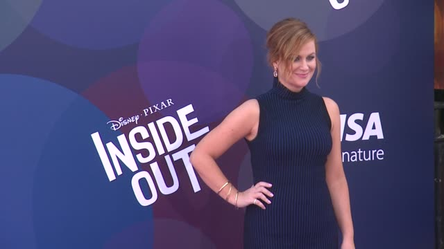 """amy poehler at disney-pixar's """"inside out"""" los angeles premiere at the el capitan theatre on june 08, 2015 in hollywood, california. - エイミー・ポーラー点の映像素材/bロール"""