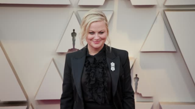amy poehler at dolby theatre on february 24, 2019 in hollywood, california. - エイミー・ポーラー点の映像素材/bロール