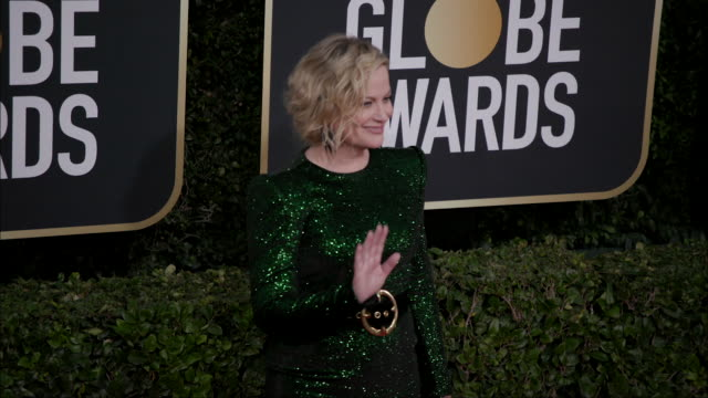 amy poehler at the 77th annual golden globe awards at the beverly hilton hotel on january 05 2020 in beverly hills california - the beverly hilton hotel stock-videos und b-roll-filmmaterial