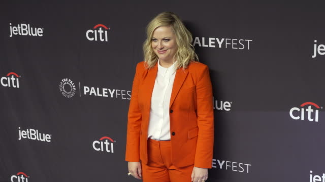 amy poehler at the paleyfest nbc's parks and recreation 10th anniversary reunion at dolby theatre on march 21, 2019 in hollywood, california. - エイミー・ポーラー点の映像素材/bロール