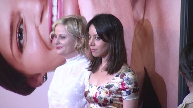 amy poehler aubrey plaza at 2012 tribeca film festival opening night the five year engagement premiere on in new york - aubrey plaza stock videos and b-roll footage