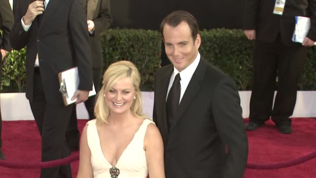 amy poehler, will arnett at the 15th annual screen actors guild awards part 2 at los angeles ca. - ウィル アーネット点の映像素材/bロール