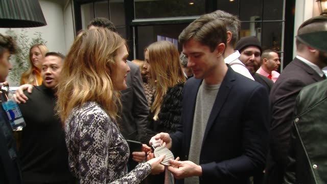 "amy purdy and topher grace at the the 6th annual ""gold meets golden"" brunch hosted by nicole kidman and nadia comaneci on january 05, 2019 in west... - topher grace stock videos & royalty-free footage"