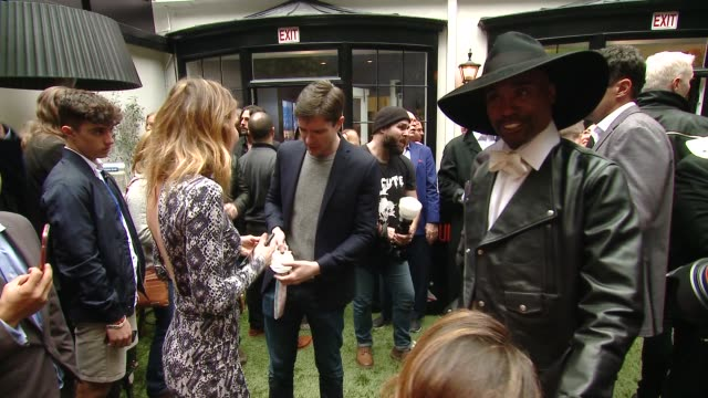 "amy purdy, topher grace, billy porter and tatyana mcfadden at the the 6th annual ""gold meets golden"" brunch hosted by nicole kidman and nadia... - topher grace stock videos & royalty-free footage"
