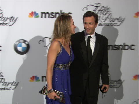 amy robach and her husband andrew shue, posing on the red carpet at the white house correspondent's dinner. - msnbc stock videos & royalty-free footage