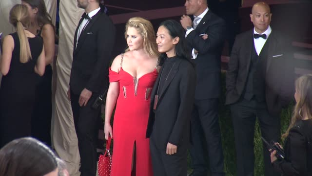 Amy Schumer and Alexander Wang at Manus x Machina Fashion in an Age of Technology Costume Institute Benefit Gala Arrivals at Metropolitan Museum of...