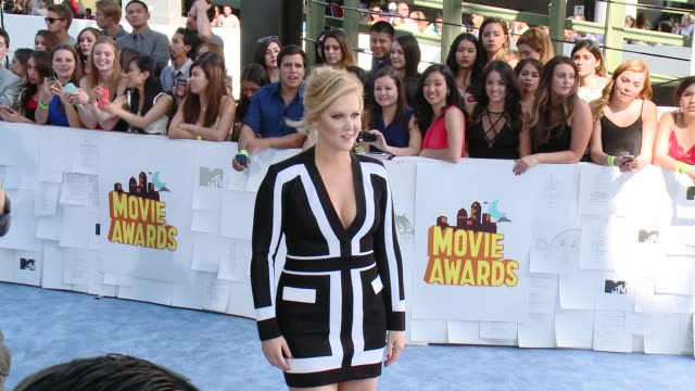 amy schumer at the 2015 mtv movie awards at nokia theatre l.a. live on april 12, 2015 in los angeles, california. - 2015 stock videos & royalty-free footage