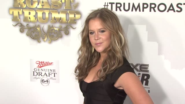 Amy Schumer at the Comedy Central Roast Of Donald Trump Arrivals at New York NY