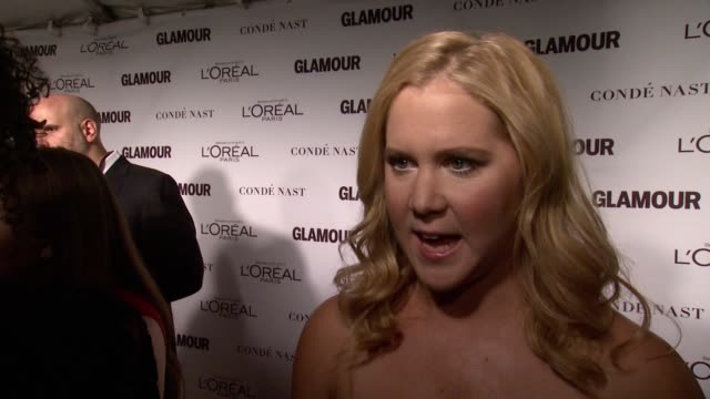 INTERVIEW Amy Schumer on paying tribute to Joan Rivers the importance of education for woman and what Glamour means to her And that women rights is...