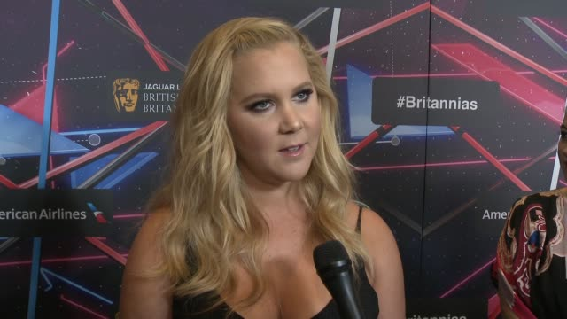 INTERVIEW Amy Schumer on who is Charlie Chaplin anyway on how it feels to be honored on why BAFTA is important at 2015 Jaguar Land Rover British...
