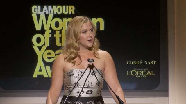 SPEECH Amy Schumer quotes Lucille Ball to say Joan Rivers was the bravest of all in her tribute to the late comedienne Rivers at Glamour Magazine's...