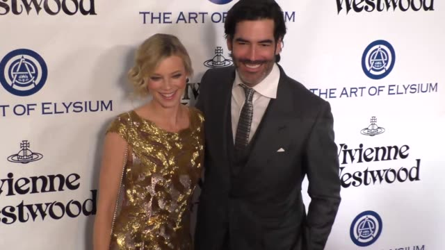 Amy Smart and Carter Oosterhouse at The Art of Elysium's 9th Annual HEAVEN Gala at 3LABS in Culver City at Celebrity Sightings in Los Angeles on...