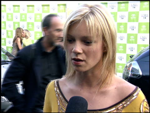 amy smart at the environmental media awards at wilshire ebell theatre in los angeles, california on october 1, 2005. - environmental media awards stock-videos und b-roll-filmmaterial
