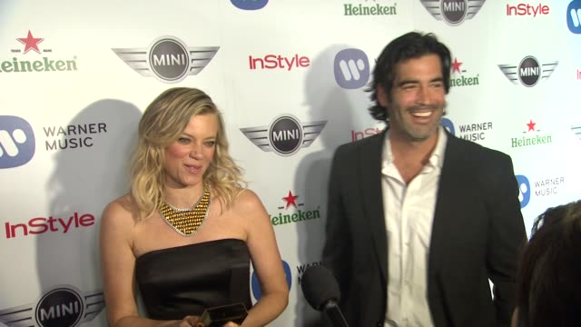Amy Smart Carter Oosterhouse at Warner Music Group GRAMMY Celebration Presented By Mini on 2/10/13 in Los Angeles CA