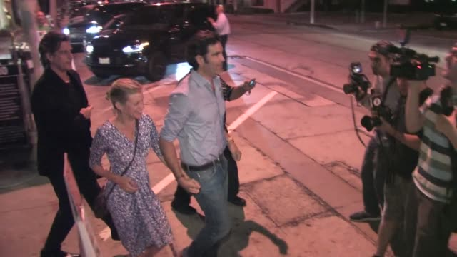 amy smart carter oosterhouse leaving craig's restaurant in west hollywood in celebrity sightings in los angeles - amy carter stock videos & royalty-free footage