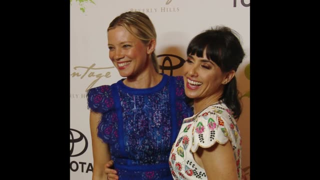 amy smart & constance zimmer at the 28th annual environmental media awards - environmental media awards stock videos & royalty-free footage