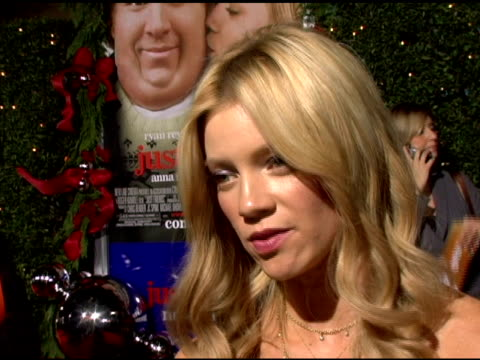 Amy Smart on her role her High School experience and what it was like making the movie at the 'Just Friends' Premiere at the Mann Village Theatre in...