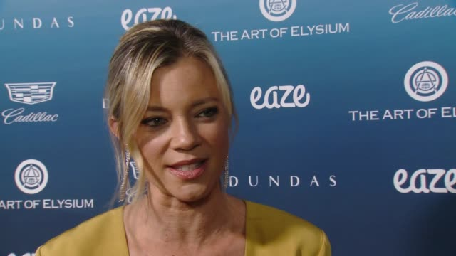 INTERVIEW Amy Smart on The Art of Elysium why it's important how they've expanded what it does helping so many people and on tonight's HEAVEN event...