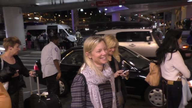 INTERVIEW Amy Smart talks about Road Trip requirements arriving at LAX Airport on September 13 2015 in Los Angeles California