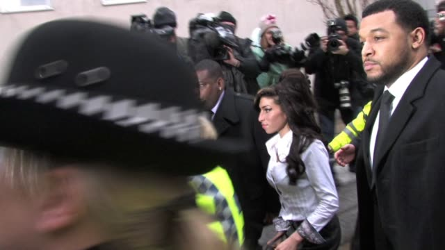 Amy Winehouse at court in Milton Keynes where she pleaded guilty for assaulting a theatre manager at the Celebrity Video Sightings In London at...