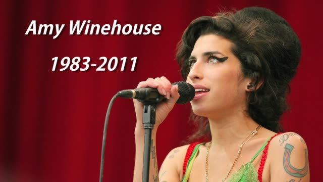 amy winehouse capsule , london, united kingdom, 07/23/11 - amy winehouse stock-videos und b-roll-filmmaterial