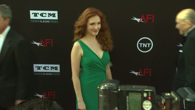 amy yasbeck at 41st afi life achievement award honoring mel brooks on 6/6/2013 in hollywood ca - amy yasbeck stock videos & royalty-free footage